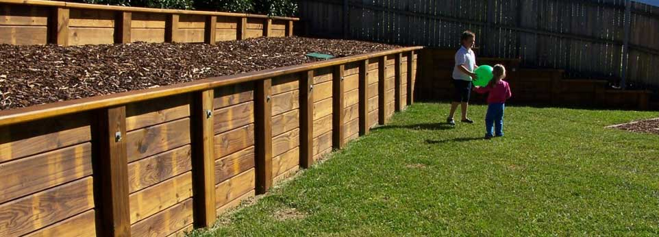 Timber Retaining Walls Built Outdoor Effects Hamilton